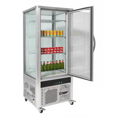 VITRINE REFRIGEREE 4 FACES INOX 408 L SILBER
