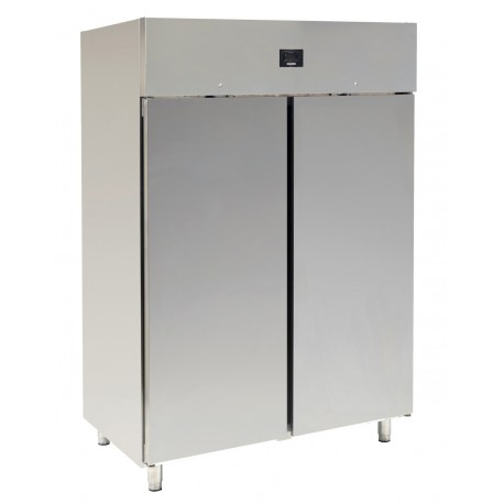 ARMOIRE FROIDE POSITIVE EMBOUTIE 2 PORTES SILBER