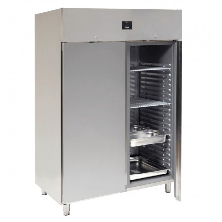 ARMOIRE FROIDE NEGATIVE EMBOUTIE 2 PORTES SILBER